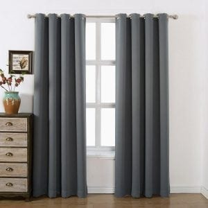 AMAZLINEN Grommet Top Blackout Curtains