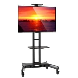 Mount Factory Rolling TV Cart Mobile TV Stand