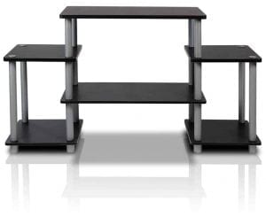 Furinno 11257BK/GY Turn-N-Tube No Tools Entertainment TV Stands