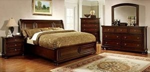 Northville Traditional Style Cherry Finish King Size Bedroom Set