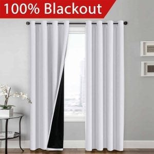 100% BLACKOUT Curtain Set