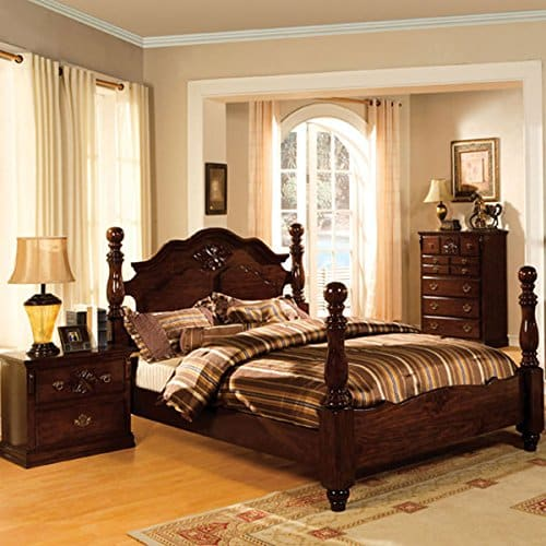 Tuscan Colonial Style Eastern King Size Bedroom Set