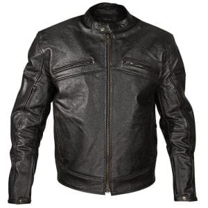 Racer Men's Black Leather Motorcycle Jacket
