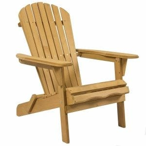 High Quality Patio Lawn Deck Foldable Adirondack Wood Chair