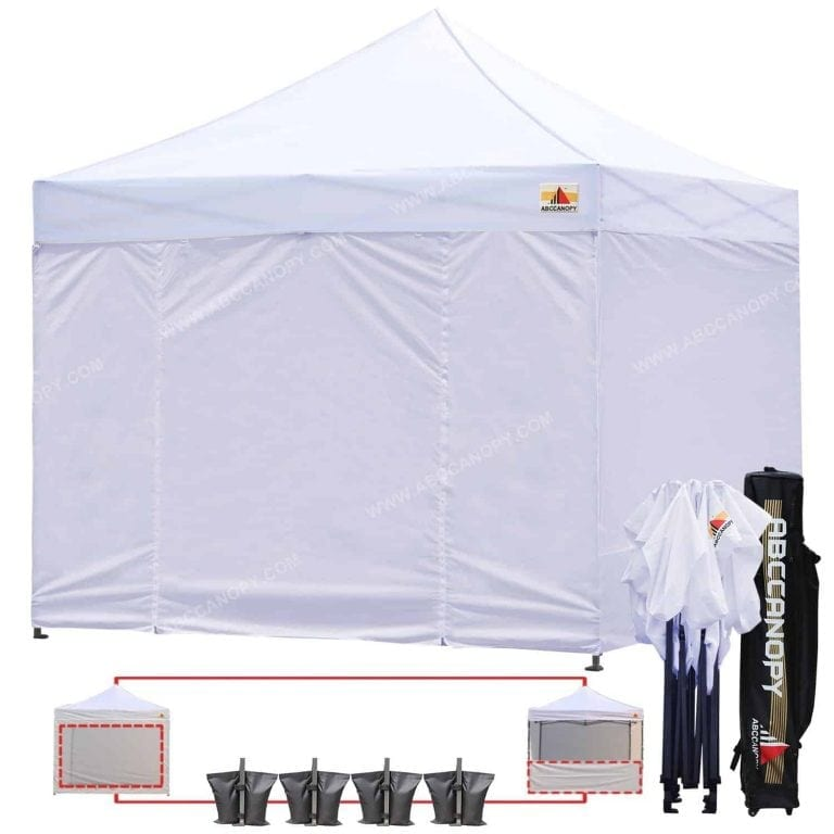 AbcCanopy White Pop-up Canopy Tent