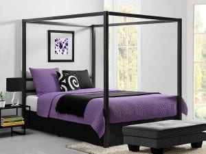 DHP Metal Framed Canopy Bed Frame