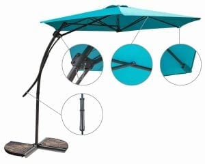 Myal 9ft Offset Patio Umbrella
