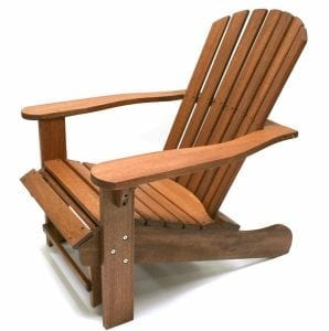 Outdoor Interiors CD3111 Featuring Eucalyptus Adirondack Chair