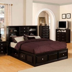 Yorkville Transitional Eastern King Size Bed Set