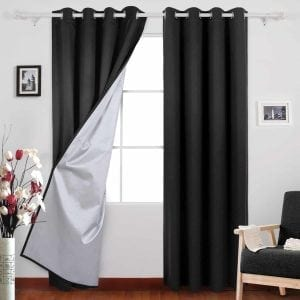 Deconovo Black Blackout Curtains