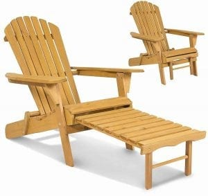 Outdoor and Patio Deck Garden Foldable Adirondack Wood Chair