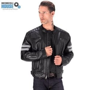 Viking Cycle Bloodaxe Leather Motorcycle Jacket