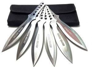Avias Supply 9 Inch 6 Piece Stainless Steel Throwing Knife