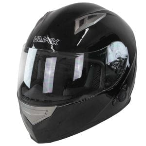 Hawk H-510 Glossy Black Bluetooth Helmet
