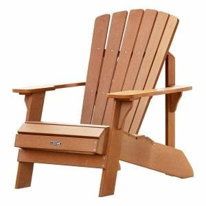 Lifetime Faux Wood Light Brown Adirondack Chair