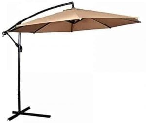 Patio Umbrella Offset 10u0027 Hanging Umbrella