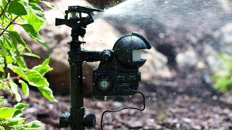Motion activated sprinklers