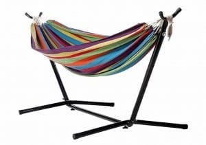 Double Cotton Hammock with Stand