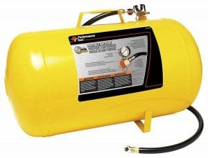 Performance Tool W10005 Hi-viz 5-Gallon Horizontal Portable Air Tank