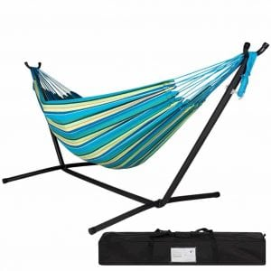 Lazydaze Hammock with Space Saving Steel Stand