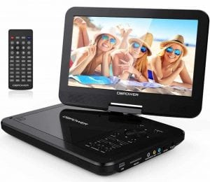 "DBPOWER 10.5"" Portable DVD Player with Swivel Screen"