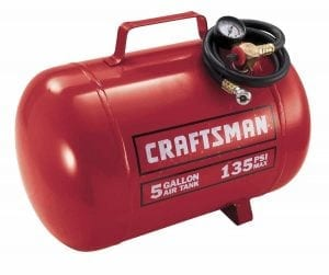 Craftsman 9-15200 5 Gallon Horizontal Air Tank