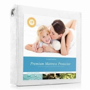 LINENSPA Premium Smooth Fabric Mattress Protector