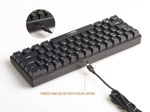 LinDon-Tech Mechanical Keyboard, Bluetooth:Wired