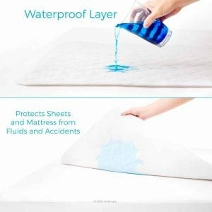 "Linenspa 34"" x 52"" Non-Skid Waterproof Sheet Protector"