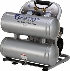 California Air Tools CAT-4610AC 4.6 gallon Aluminum Twin Tank Electric Portable Air Compressor