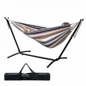 ZENY Double Hammock With Steel Stand