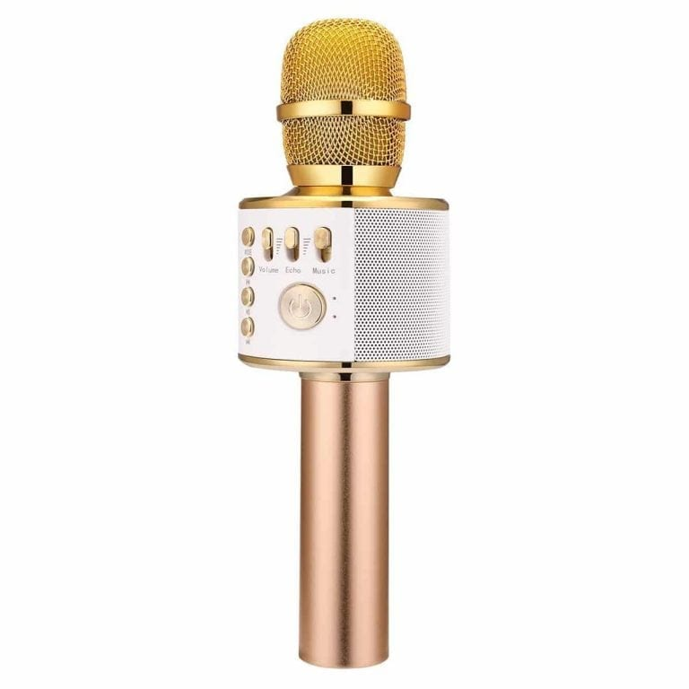 BONAOK Wireless Bluetooth Karaoke Microphone
