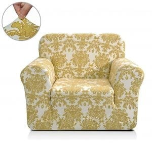 Chun Yi Printed Sofa Covers 1-Piece Spandex Fabric Slipcover