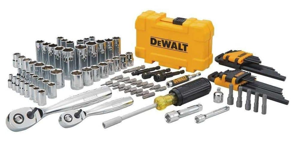 DEWALT 108 PIECE DRIVE MECHANICS TOOLS SET