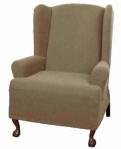Maytex Pixel Stretch 1-Piece Slipcover Wing Chair