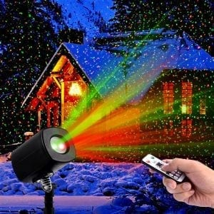 Top 10 best laser christmas lights in 2018 toptenreviewpro clustars laser christmas lights waterproof indoor and outdoor mozeypictures Choice Image