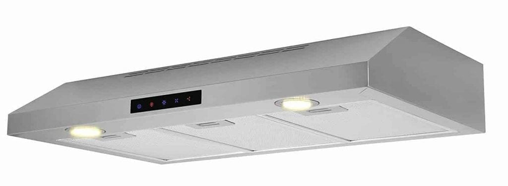 Kitchen Bath Collection WUC90-LED Stainless Steel Under-Cabinet Range Hood