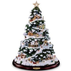 Thomas Kinkade Village Christmas Artificial Tabletop Christmas Tree