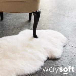 WaySoft(TM) Sheepskin Rug