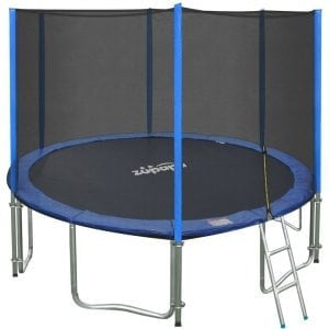 Zupapa 15 14 12 FEET TUV Approved Trampoline with Enclosure Net