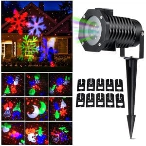 Christmas Laser Light, Ucharge Snowflake Led Spotlight Landscape Projector