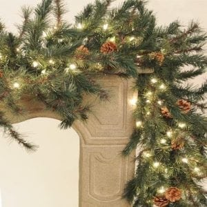 Emerald Pine Lighted Garland