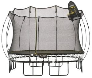 Springfree Trampoline - 11feet Large Square Trampoline With Basketball Hoop and Ladder