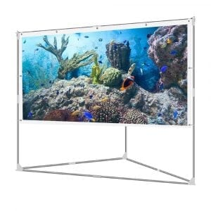 JaeilPLM 100 inch Portable Projection Screen