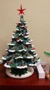 Ceramic Christmas Tree 19 inches tall by Treasures