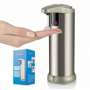 HOMCA 280ML Stainless Steel Touchless Hand Free Motion Sensor