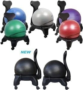 Isokinetics Inc. Balance Exercise Ball Chair - Standard or Tall Boy