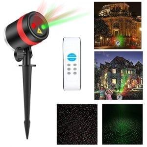 Laser Christmas Lights with Wireless Remote and 8 Lighting Modes