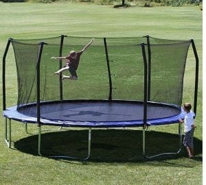 Oval Skywalker Trampolines and Enclosure Pad