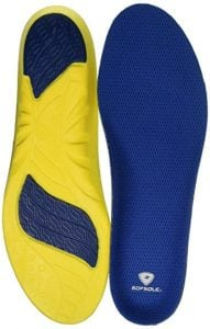 Sof Sole Athlete Full Length Comfort Neutral Arch Replacement Shoe Insole